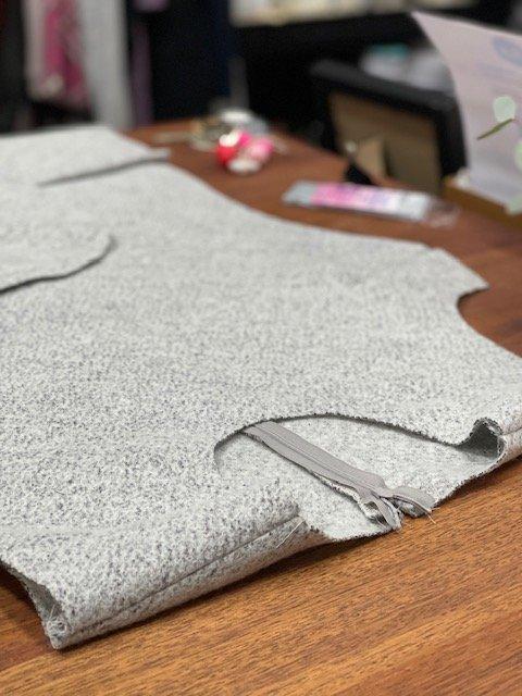 Wool TRanseasonal dress with short sleeves - work in progress