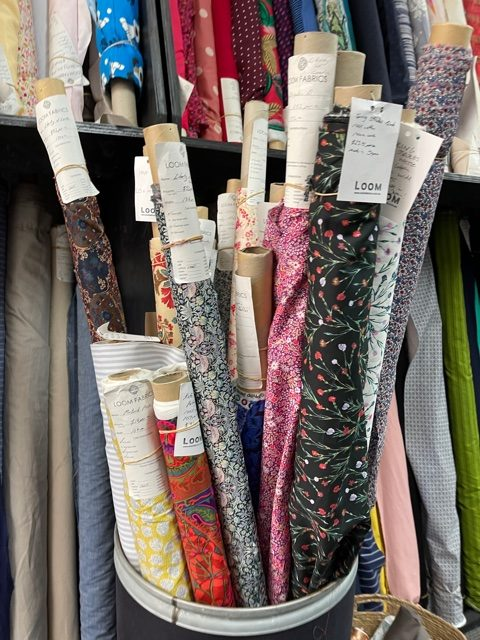 vLoom Fabrics Liberties and japanese printed floral cottons