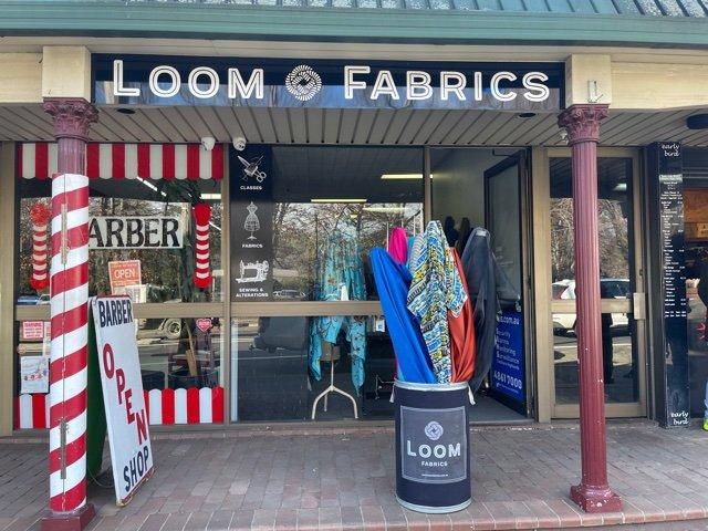Loom Fabrics new shopfront